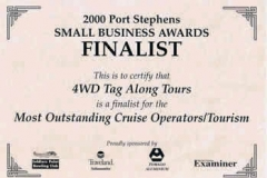 Port Stephens 2000 small business tourism award