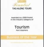 Port Stephens 2009 small business tourism award